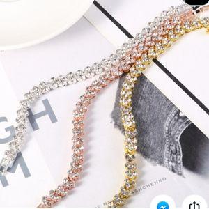 Jewelry - Gorgeous Gold crystal .925 tennis bracelet